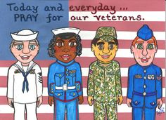 """There are no words big enough, There are no hugs strong enough, There are no smiles wide enough... All we can offer is 'Thank you' for being our heroes.""   To all who serve and have served in the military: You are in our prayers! www.thegoodnewscartoon.com *Facebook: The Good News Cartoon*"