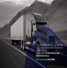 ¿Transporte de carga internacional?  Tenemos las coberturas que necesitas, con radios de operación desde 15 millas hasta 1,500 millas. #AsegúrateBien #Tracto #Crossborder #Domestico #Bersamex
