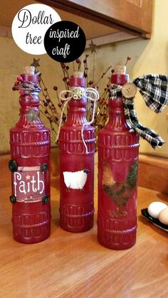 Crafting with dollar tree bottles - Debbiedoos