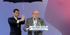 France. Jean-Marie Le Pen, privé de tribune par Marine Le Pen lors du défilé du 1er mai du Front national, ne se taira pas. Avril 2015 .