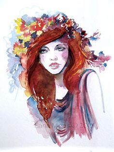 Original Fashion Watercolor Painting - Illustration by Lana***