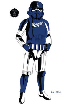 STORM TROOPER Los Angeles Dodgers ARMOR limited by IndustrialAge, $3.99