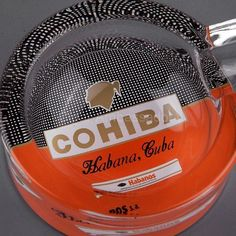 Round Glass Cohiba Ashtray for one Cigar Estimated Delivery: Gadgets, Cigar Ashtray, Cigar Cases, Transparent, Cigars, Household, Round Glass, Larger, Delivery