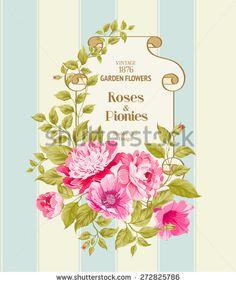 Flores Vintage Fotos, imágenes y retratos en stock | Shutterstock