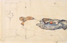 Egon Schiele - prison cell in Neulengbach Gustav Klimt, Drawing S, Painting & Drawing, 1920s Art, Art Database, Orange, Tag Art, Online Art, Les Oeuvres