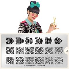 MoYou-London - Fashionista 08When you're looking for patterns, look no further than the Fashionista line from MoYou-London. This plate is full of amazing array of damask patterns which will make any manicure come to life. Add a level of detail and flare t