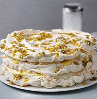 James Martin's meringue, lemon curd and passion fruit torte recipe - hellomagazine.com