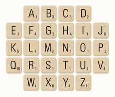 Giant Wall Scrabble Letters Printable - Bing images | craft ideas ...