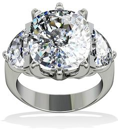 All diamonds are earth mined, real, authentic stones. Ring Size Custom Made. Cushion Cut Engagement Ring, Platinum Engagement Rings, Ring Ring, Diamond Cuts, Diamond Rings, Wedding Jewelry, Wedding Rings, Wedding Engagement, Wolves