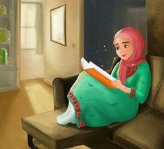 Couple Cartoon, Girl Cartoon, Cartoon Art, Islamic Girl Pic, Islamic Art, Pretty Art, Cute Art, Deviantart Drawings, Hijab Drawing