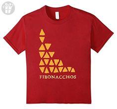 Kids Funny Math Fibonacchos T-shirt Funny Math tee 10 Cranberry - Funny shirts (*Amazon Partner-Link)