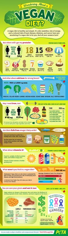 Wondering about a #vegan diet? #infographic #peta