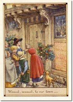 Cicely Mary Barker - A Little Book of Old Rhymes - The Wassail Song Archival Fine Art Paper Print