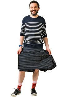 Mann ohne Hose