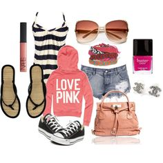 I can't wait till summer to throw on my pink sweatshirt and shorts. So relaxed and casual. Fantabulous!