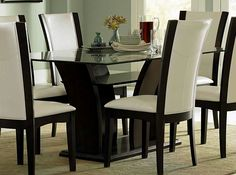 Glass Dining Room Sets   When It Comes To Furniture Shopping, Few Enjoy The  Quest. Having To Look At Bed After Bed, Dining Room Table After Dining Table,  ...