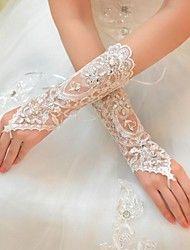 Tüll+Ellbogen+Länge+Handschuh+Braut+Handschuhe+mit+Strass+eleganten+Stil+–+EUR+€+6.57