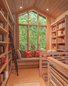 59 Home Libraries Perfect for Your Book Collection - Home Design Home Design, Home Library Design, Interior Design, Library Ideas, Interior Ideas, Design Ideas, Room Interior, Interior Shop, Modern Library