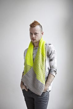 Safety Scarf 8 by westknits, via Flickr - This would look great in Tosh Vintage Edison Bulb and Whiskers - or - Silver Fox.