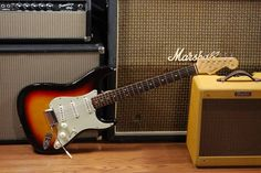 A Fender Stratocaster, choice of the legions of guitar players. Getting myself one day...