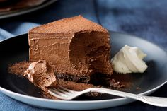 Double Chocolate Mousse Cake - (No Bake) All low carb except the crust, which is easily remedied! Easy, just gently, gently! fold your beaten cream and coffee liqueur into melted chocolate, dust top with cocoa, throw in the fridge - impress everyone ;) - As noted for a light and fluffy texture: make sure the chocolate and cream mixtures are at similar temperatures before carefully folding the two mixtures together.