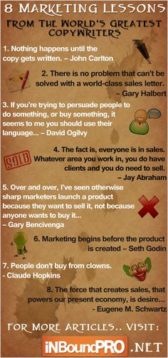 8 Marketing Lessons From The World's Greatest Copywriters.