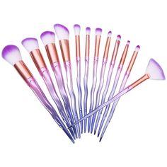 Professional 12Pcs Colorful Snake Design Makeup Brushes Set