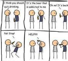 I think you should quit drinking. Funny friends stick figure comic strip