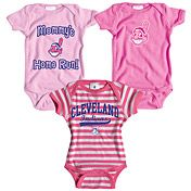 Cleveland Indians 3 Pack Girls Mommy's Home Run Creeper Set by Soft as a Grape - MLB.com Shop