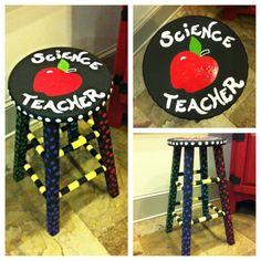 Laura's teacher stool I painted :)
