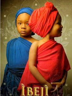 Ibeji: os gêmeos sagrados são orixás crianças, um menino e uma menina, que teriam os nomes de Kehinde e Taiwo. São os deuses da juventude e da vitalidade. Segundo a mitologia yorubá, os gêmeos Ibeji são filhos abandonados por Oyá, que os teria jogado na água depois do parto, sendo então criados por Oxum como seus próprios filhos. No Brasil, é comum que sejam sincretizado com os santos Cosme e Damião.
