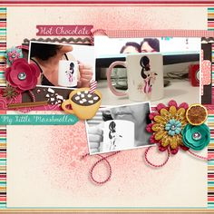 Digital Scrapbook Page by Keley | Cocoa Kissmass by Bella Gypsy
