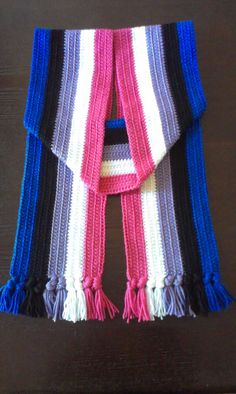 Genderfluid Pride Flag Crochet Scarf by RainComicStore on Etsy, $24.99