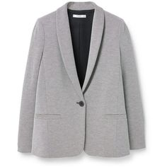Structured Cotton Blazer ($86) ❤ liked on Polyvore featuring outerwear, jackets, blazers, lapel jacket, lined jacket, structured jacket, mango jacket and cotton blazer