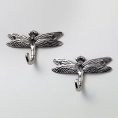Cost Plus World Market Dragonfly Metal Hooks, Set of 2 Nursery Themes, Room Themes, Dragonfly Wall Art, Presents For Men, World Market, Girl Nursery, Decorative Accessories, Hooks, Metal