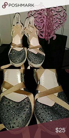 a56e2c6e40432a Glittery ballarina lace -ups