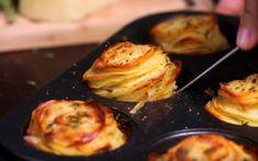 Potato Stacks Edited | Make a Yummy Potato Side Dish – In a Muffin Tin!
