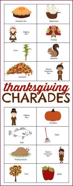 Thanksgiving Charades - I Can Teach My Child!