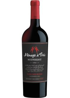 Menage a Trois Midnight Red Blend Dark Side, Wine Sale, Wine Down, Wine Guide, Expensive Wine, Cheap Wine, In Vino Veritas, Wine Stoppers, Wine And Beer
