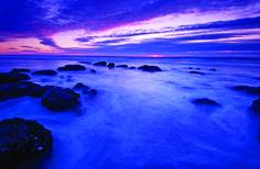 Bryan Peterson, long exposure, sea landscape, leading lines, rule of thirds, horizon