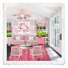 """""""Pretty In Pink"""" by fowlerteetee ❤ liked on Polyvore featuring interior, interiors, interior design, home, home decor, interior decorating, Redford House, Zingz & Thingz, SCP and Paşabahçe"""