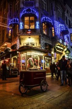 Street vendor, Istanbul, Turkey.