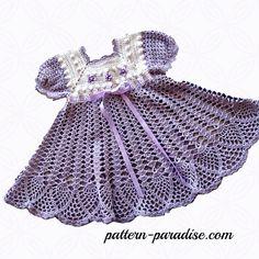 Crochet Pattern for Baby Girl Dress PDF 12-007 INSTANT | Etsy