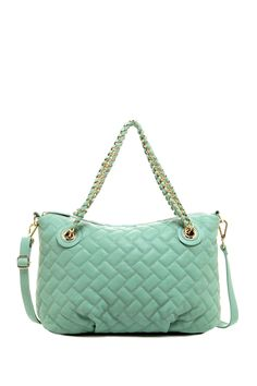 Love the mint & the amazing price for the Moda Luxe Quilted Handbag