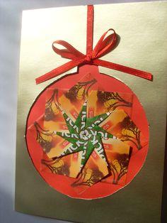 Christmas card teabag folding / origami Kerstkaart theezakjes vouwen / origami Folded Cards, Mandala, Colours, Origami Christmas, Stars, Crafting, Mandalas