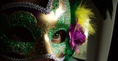 Who's really behind the mask?  #nola #neworleans #rocknroll #marathon #la #mardigras #2016 #frenchquarter #mask #masquerade #gold #purple #green #eye #hidden #canon #canonphotography #travel #travelingram #back #in #texas #lonestar #state by kbphotoop