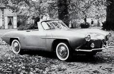 Ce cabriolet Panhard PL 17 à la face torturée était exposé au Salon de Paris 1959