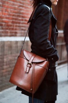#bag #leather #brown