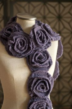 Felted sweaters in ruffle rose scarf