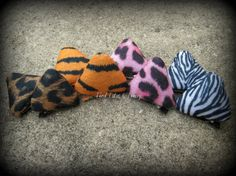 Cat Animal Print Ear hair clips 1 pair by TiedTutusAndThings